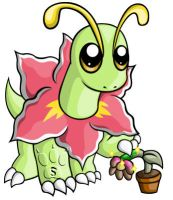 Meganium Chibi by RedPawDesigns