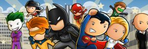 Scribblenauts Unmasked Characters by Sanctif1ed