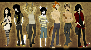 CTCF: Character Line Up, part o1 by DoctorCritical