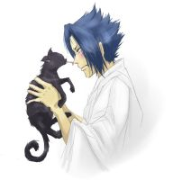 Sasuke and Cat by gtxoxo
