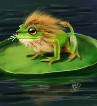 Lion Frog by Yggdrassal