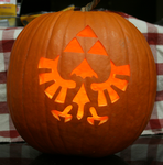 Triforce Pumpkin Lit Up by johwee