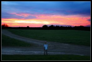 NYC Nephew meets Ohio Sunset by Jeremyti