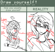 Draw your real self meme by xBeeBumblex