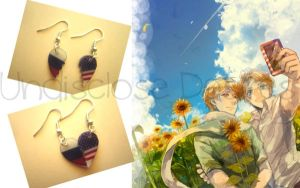 APH - Russia x America - Half Heart Earrings by Undisclose--Desires