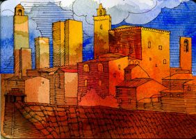 San Gimignano 34 by andreuccettiart