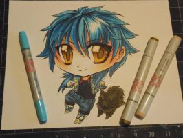 Copic Chibi Aoba by Mireielle