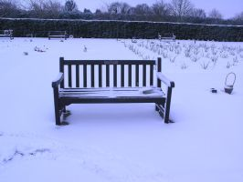 snowy graveyard -bench- 5 by dark-dragon-stock