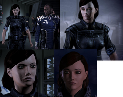 ME3 FemShep by theclumsyninja
