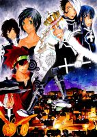 D-Gray-man-Town at night by Laovaan
