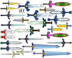 links swords by hollowkingking