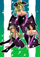 Morrigan's girls by Pronon1990