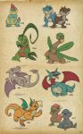 Lizard Pokesketch Batch 1 by thazumi