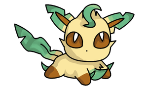 Chibi Leafeon by cocoasaurus