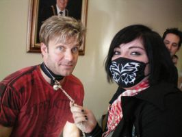 Me and Vic Mignogna-Cat Collor by liese12