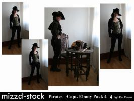 Pirates - Captain Ebony Black Pack 4 by mizzd-stock