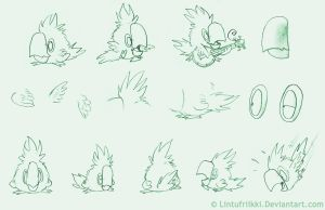 Pepe the Parrot refsheets by Lintufriikki