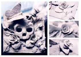 Rose and Skull by Rakisan-Art