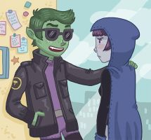 Flirting: Beast Boy Style by Cup-Kayke