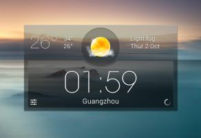Crystal Clock Weather HD for xwidget by jimking