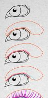 The ultimate Eyelashes drawing tutorial by PitGraf