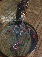 Red Wire Dragon by WireMoonJewelry
