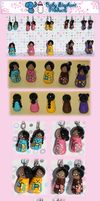 .: Kokeshi Doll Charms :. by moofestgirl