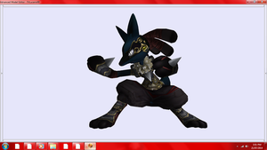 My favorite Lucario texture from Brawlvault by DarkClaw154