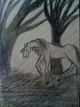 horse in the woods by Jade724