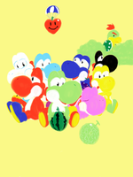 Eight Yoshis by amito