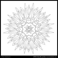 Starstruck Lovers Mandala by Quaddles-Roost