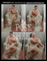 POSE SHEET 2 of 3: Seated Nouveau Lady by themuseslibrary