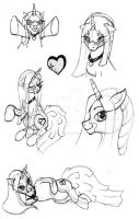 Willow Heart sketches by tigerpixie16