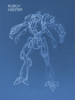 Dreadball Robot Keeper Concept by burbidge