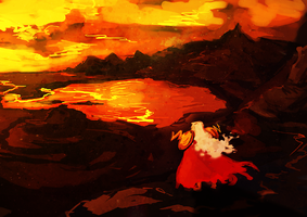 Lake of fire by SilentAndSullen