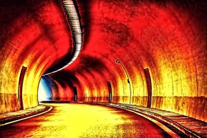 The Red Tunnel by RiegersArtistry