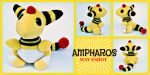 Ampharos Pokedoll Plush Commission by MayEsdot