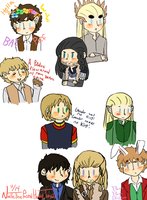 Lotr/hobbit Doodles by ThePastelHobbit
