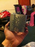 Acid etched hip flask by Dezz101