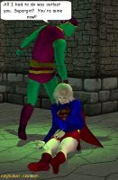 Supergirl and Kryptonite Man 2 by CaptainZammo