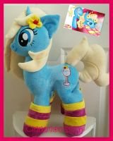 mlp plushie commission BLUE LAGOON completed by CINNAMON-STITCH