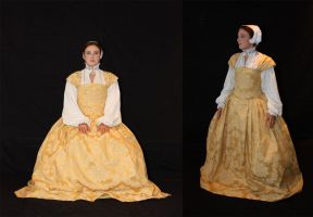 Yellow Renaissance dress by Celefindel