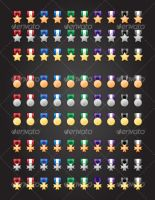 90 Medal Icons by wilde-media