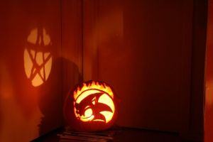 Sonic Pumpkin 2010 by lordgreggreg