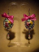 Fruit and Cake Earring Dangle by fleur-de-mirage