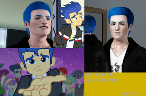 Flash Sentry Equestria Girls The Sims 3 by Vaux111