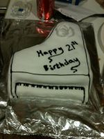 Piano cake by Katie-Kerry