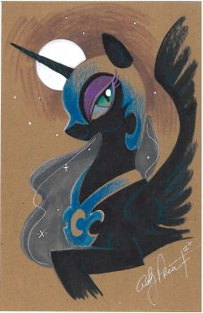 Nightmare Moon color study my little pony by andypriceart