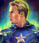 Captain America by astrofawn