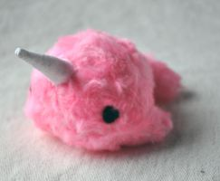 Plush Narwhal - hot pink by TheOstrichFarm